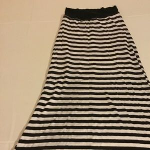 Charlotte Russe Black and white striped skirt
